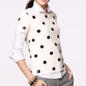 J Crew Sequin Polka Dot Top Tee